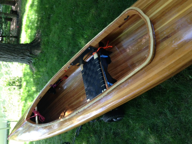 Rivermiles Forum - Woodstrip solo expedition decked canoe